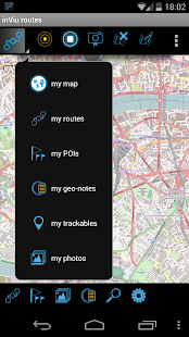 inViu routes GPS tracker OSM - screenshot thumbnail