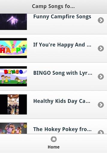 Camp Kids Songs