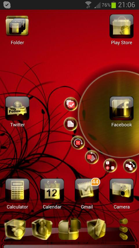 Next Launcher Finesse Theme- screenshot