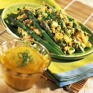 Curried Crab Salad with Mango-Mojo Sauce.