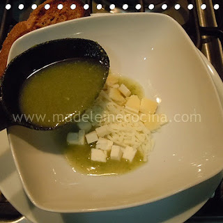 Zucchini Soup with Tarragon and Three Cheeses.