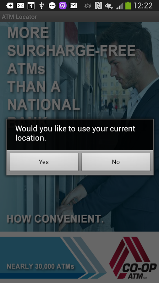CO-OP ATM Locator- screenshot