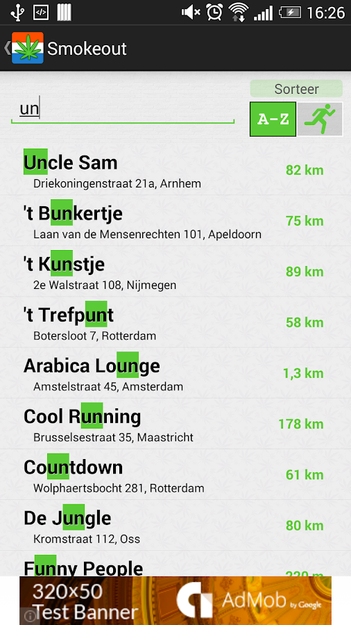 Smokeout - Coffeeshop Finder - screenshot