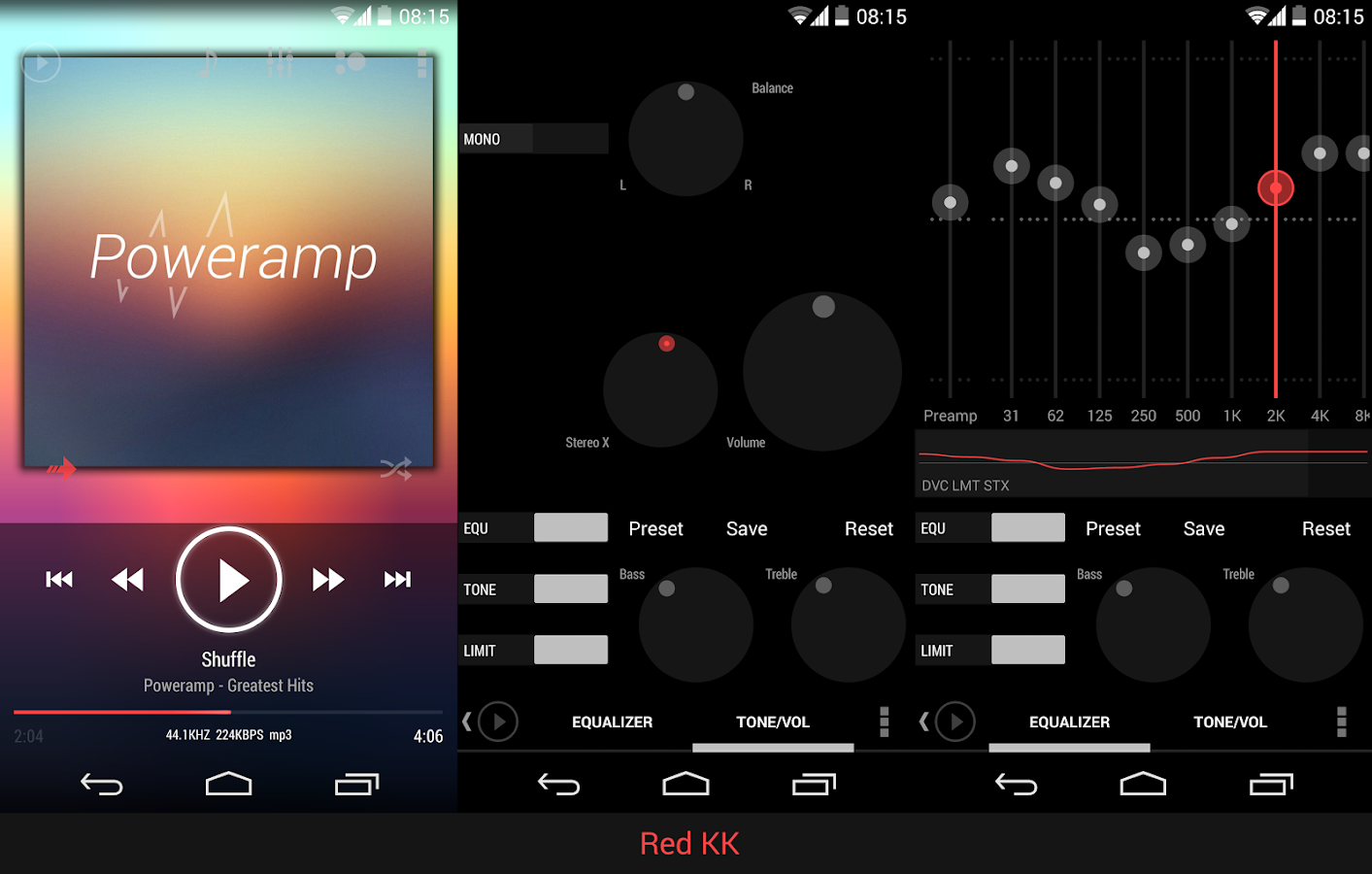 Poweramp skin ICS/JB Red - screenshot