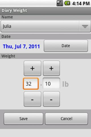 Diary Weight- screenshot