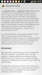 Glycemic Index of products - screenshot thumbnail