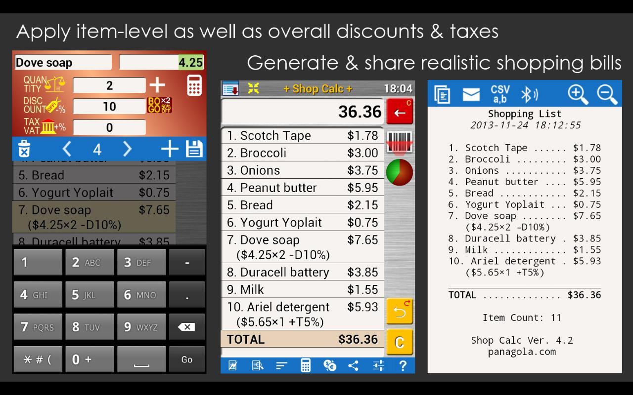 SHOP CALC Pro: Shopping List -