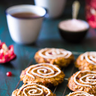 Breakfast Cookies with Banana and Pomegranate
