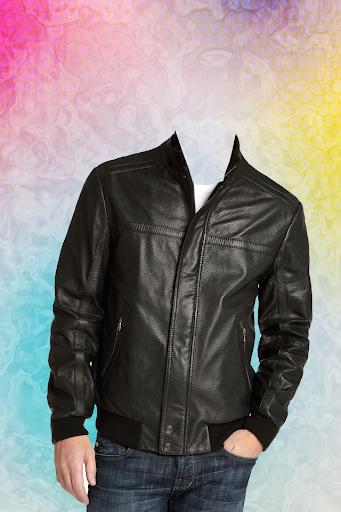 Leather Coat of Man Photo Suit