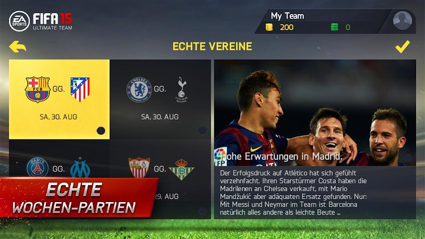 android FIFA 15 Ultimate Team Screenshot 8