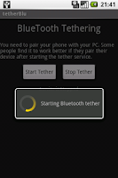 Screenshot of tether Blu