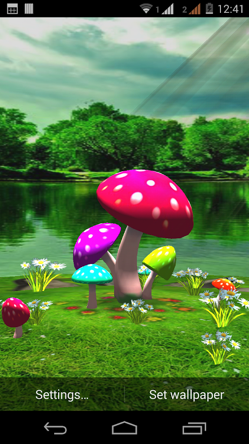 3d Mushroom Live Wallpaper New Android Apps On Google Play