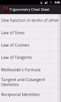 Screenshot of Trigonometry Cheat Sheet(Free)