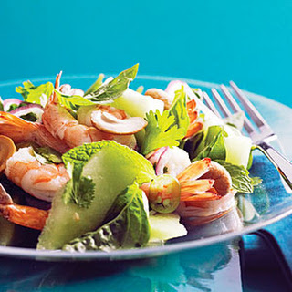Vietnamese Shrimp and Green Melon Salad.