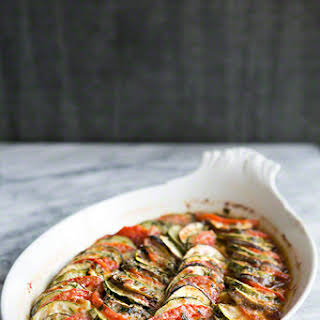 Zucchini, Eggplant, Tomato Gratin.