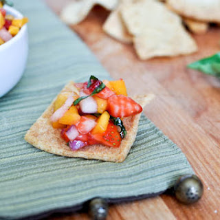 Strawberry Mango Basil Salsa.