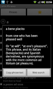 Latin Phrasebook Premium - screenshot thumbnail