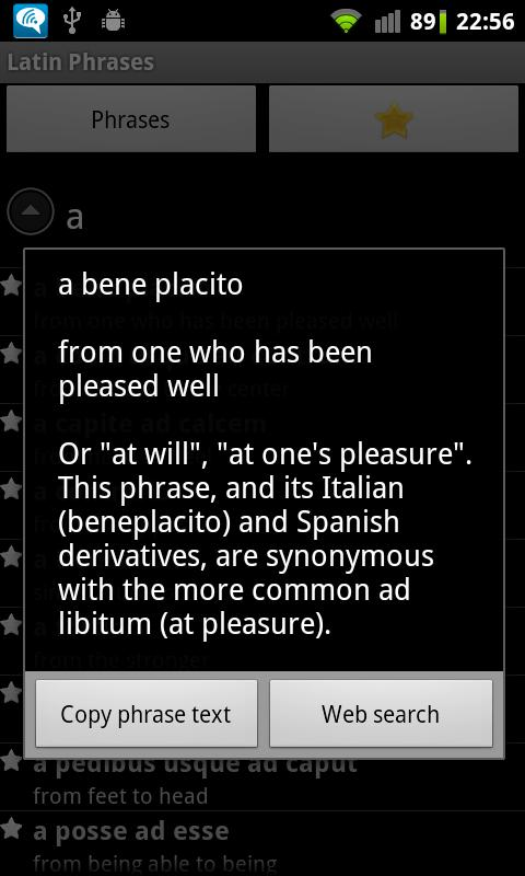 Latin Phrasebook Premium - screenshot
