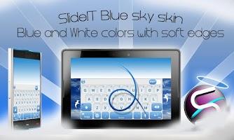 Screenshot of SlideIT Blue Sky Skin