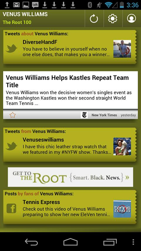 Venus Williams: The Root 100 - screenshot