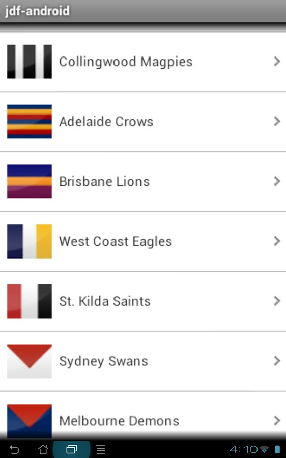 AFL Footy Stats - screenshot