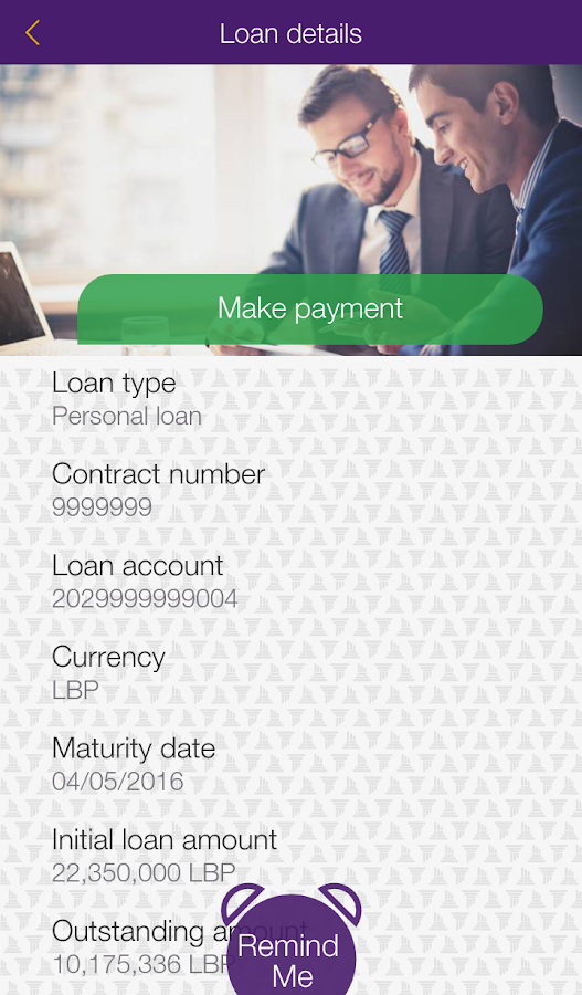 Byblos Bank Mobile Banking- screenshot