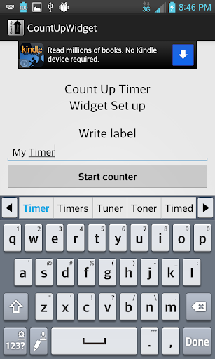 Count Up Timer Widget