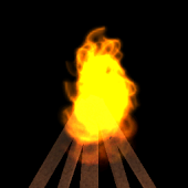 3D bonfire livewallpaper