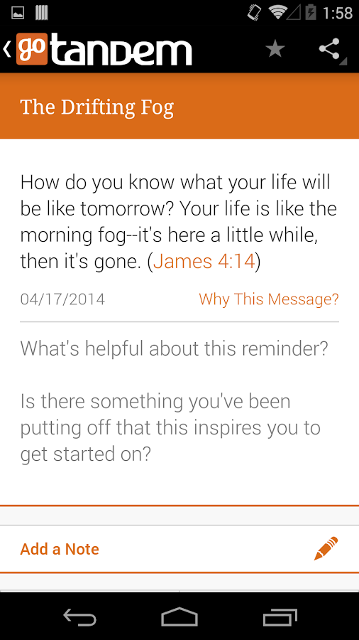 goTandem: Bible Engagement App- screenshot