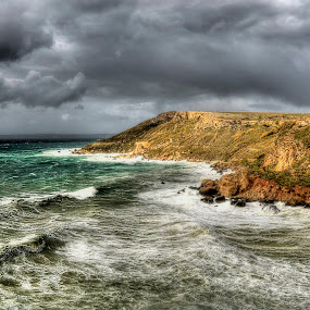 Fomm ir-Rih Bay by Marco Aquilina - Landscapes Weather ( windy, HDR, Landscapes )