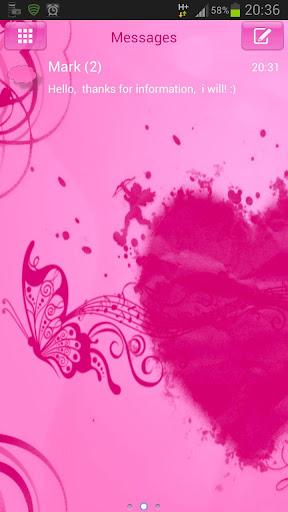 SMS Pro Theme 粉紅色的心