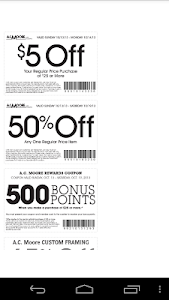 Coupons for AC Moore screenshot 1