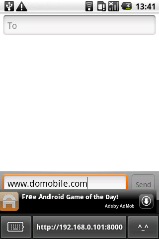 DoMobile ShareKeyboard free - screenshot