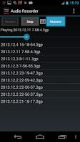 Screenshot of Audio Recorder