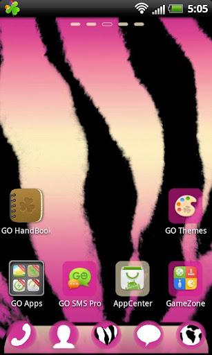 GO Launcher EX Pink Zebra