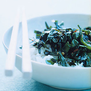 Stir-Fried Garlic Chives with Chile.