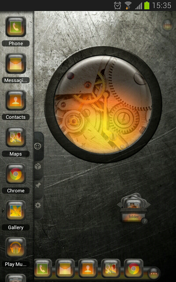 TSF Shell Theme EventGlassO HD - screenshot