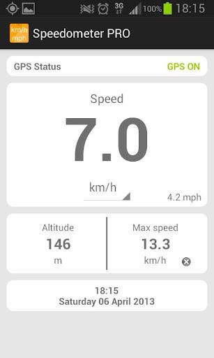 Speedometer mph kmh Simple PRO