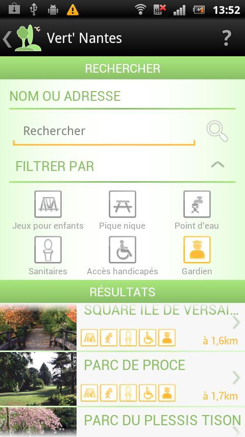 Vert' Nantes - Parcs & Jardins- screenshot