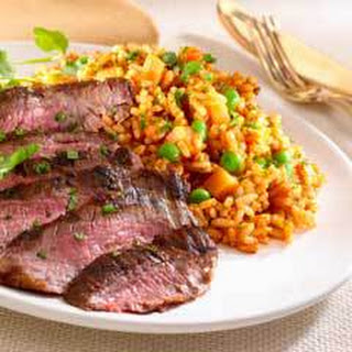 Grilled Steak With Red Tomato Rice.