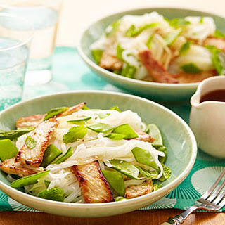 Rice Noodle Salad with Pork and Snow Peas