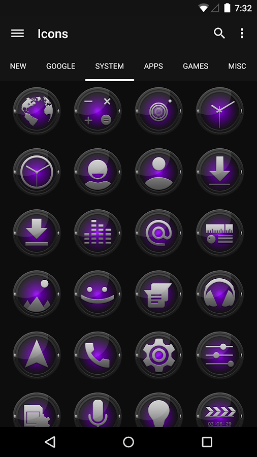 Black and Purple - Icon Pack - screenshot
