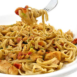 Cajun Chicken Linguine Alfredo, Skinnyfied