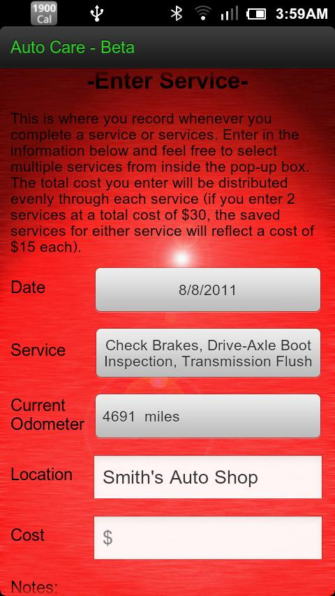 Auto Care - screenshot