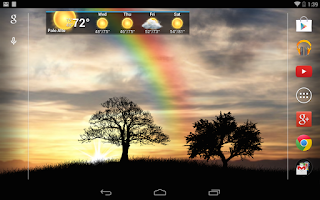 Screenshot of Sun Rise Pro Live Wallpaper