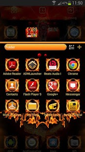 Fire Me GO Launcher EX theme - screenshot thumbnail