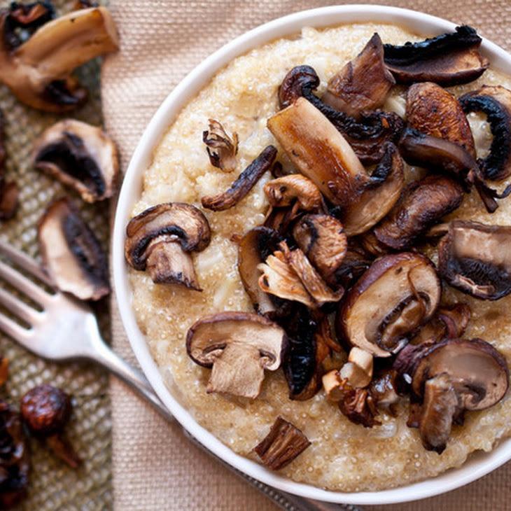 Roasted Mushroom Quinoa Risotto