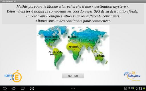 Voyage de Mathis - TABLET