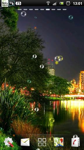城市夜景河LWP