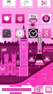 Pink Now GO Launcher EX Theme|玩個人化App免費|玩APPs